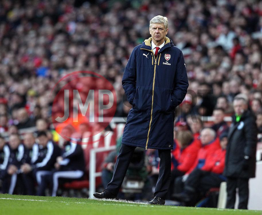 Arsenal Manager, Arsene Wenger - Mandatory byline: Robbie Stephenson/JMP - 30/01/2016 - FOOTBALL - Emirates Stadium - London, England - Arsenal v Burnley - FA Cup Forth Round