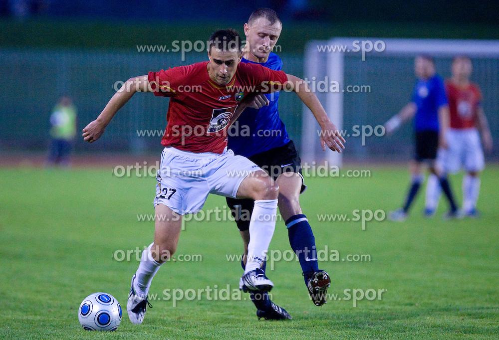 Rusmin Dedic of Rudar vs Aleksandr Tarassenkov at 1st Round of Europe League football match between NK Rudar Velenje (Slovenia) and Trans Narva (Estonia), on July 9 2009, in Velenje, Slovenia. Rudar won 3:1 and qualified to 2nd Round. (Photo by Vid Ponikvar / Sportida)