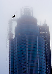 Helicopter crash in Vauxhall, London, UK. January 16, 2013. The crane where the helicopter crashed in London. It is not believed to be a terrorist act the helicopter crash in Central london. Photo by Andre Camara / i-Images.