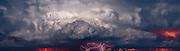 Lightning storm, panorama