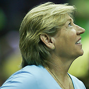 North Carolina Tar Heels women's head basketball coach SYLVIA HATCHELL is seen in the stands in the fourth quarter of a WNBA regular season game between The Washington Mystics and the Chicago Sky Wednesday, July. 24, 2013 at The Verizon center in Washington DC.<br />