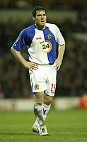Photo: Aidan Ellis.<br /> Blackburn Rovers v Bayer Leverkusen. UEFA Cup, 2nd Leg. 22/02/2007.<br /> Rovers  David Dunn looks dejected