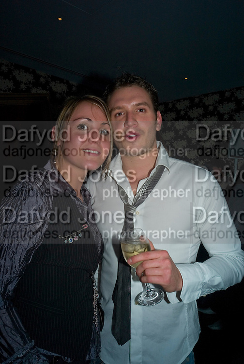 FIA TARRANT AND CHARLIE GREGORY, Bingo Lotto launch party. Soho Hotel Richmond Mews. London. 29 February 2008.  *** Local Caption *** -DO NOT ARCHIVE-© Copyright Photograph by Dafydd Jones. 248 Clapham Rd. London SW9 0PZ. Tel 0207 820 0771. www.dafjones.com.