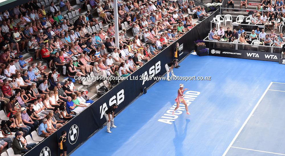 Denmark's Caroline Wozniacki on centre court during her second round singles match on Day 3 at the ASB Classic WTA International. Auckland, New Zealand. Wednesday 7 January 2015. Copyright photo: Andrew Cornaga/www.photosport.co.nz