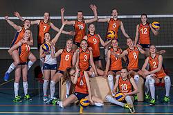 15-03-2017 NED:  Reportage jeugd Oranje, Arnhem<br /> Teamfoto Jeugd Oranje klaar voor het EK in eigen land.
