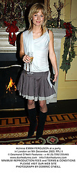 Actress EMMA FERGUSON at a party in London on 9th December 2003.PPJ 4