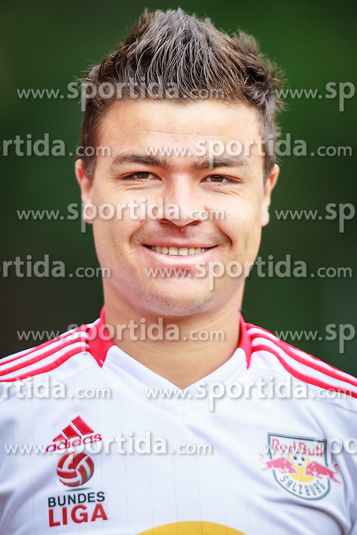 29.06.2012, Steinbergstadion, Leogang, AUT, FC Red Bull Salzburg, Fototermin, im Bild Cristiano da Silva, (Red Bull Salzburg, #10) waehrend des offiziellen Mannschafts- bzw. Portraitfoto Termins // during the official tema photo shoot at the Steinbergstadion, Leogang, Austria on 2012/06/29. EXPA Pictures © 2012, PhotoCredit: EXPA/ Juergen Feichter