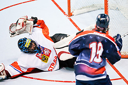 Goalie Roman Handl of Czech Republic at IIHF In-Line Hockey World Championships 2011 Top Division Gold medal game between National teams of Czech republic and USA on June 25, 2011, in Pardubice, Czech Republic. (Photo by Matic Klansek Velej / Sportida)