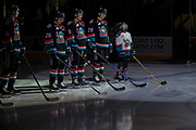 KELOWNA, CANADA - OCTOBER 10: Pepsi Player of the game in the lineup at the Kelowna Rockets game on October 10, 2018 at Prospera Place in Kelowna, British Columbia, Canada. (Photo By Cindy Rogers/Nyasa Photography, *** Local Caption ***