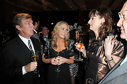 Left to right, NIGEL LYTHGOE, SAMMY ? and AMANDA BERRY at the BAFTA Nominees party 2011 held at Asprey, 167 New Bond Street, London on 12th February 2011.