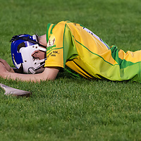 O'Callaghans Mills dejected after their Minor B Final Loss
