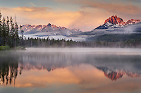 Little Redfish Lake at sunrise, Sawtooth National Recreation Area Idaho