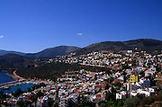 View over the coast and town of Kalkan, Turkey