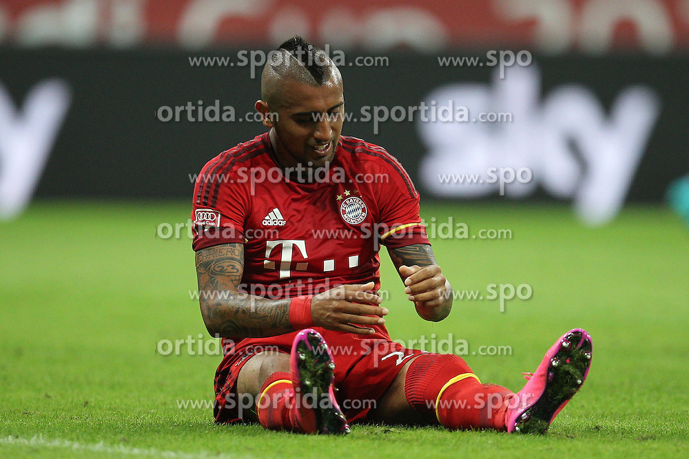 04.08.2015, Allianz Arena, Muenchen, GER, AUDI CUP, FC Bayern Muenchen vs AC Mailand, im Bild Arturo Vidal #23 (FC Bayern Muenchen) aergert sich ueber die vergebene Chance // during the 2015 AUDI Cup Match between FC Bayern Muenchen and AC Mailand at the Allianz Arena in Muenchen, Germany on 2015/08/04. EXPA Pictures &copy; 2015, PhotoCredit: EXPA/ Eibner-Pressefoto/ Kolbert<br /> <br /> *****ATTENTION - OUT of GER*****