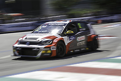 June 23, 2018 - Vila Real, Vila Real, Portugal - Rob Huff from Great Britain in Volkswagen Golf GTI TCR of Sebastien Loeb Racing in action during the Race 1 of FIA WTCR 2018 World Touring Car Cup Race of Portugal, Vila Real, June 23, 2018. (Credit Image: © Dpi/NurPhoto via ZUMA Press)