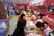 Apgujeong. Fashionable Rodeo Street shopping area. Manicure.