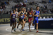 Cal Lawton (1154) of South Dakota State and Isaiah Jewett (1531) of Southern California  lead an 800m heat during the NCAA West Track & Field Preliminary, Thursday, May 23, 2019, in Sacramento, Calif.