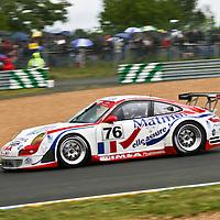 #76 Porsche 997 GT3 RSR, Performance Matmut (drivers: Richard Lietz, Raymond Narac, Patrick Long) at Le Mans 24H on 16 June 2007