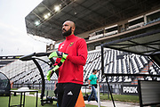 THESSALONIKI, GREECE - AUGUST 16: Aly Keita, goalkeeper of Oestersunds FK during training ahead of the UEFA Europa League Qualifying Play-Offs round first leg match between PAOK Saloniki and &Ouml;stersunds FK at Toumba Stadium on August 16, 2017 in Thessaloniki, Greece. Foto: Nils Petter Nilsson/Ombrello<br /> ***BETALBILD***