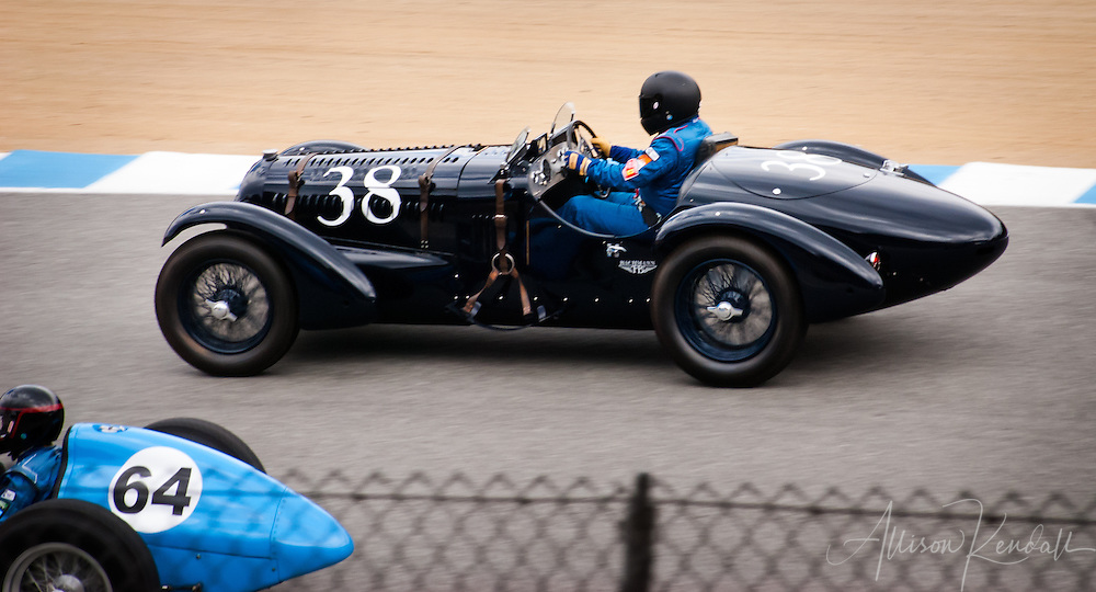 1938 Talbot T26SS driven by Brian Mullin at the 2013 Rolex Monterey Motorsports Reunion