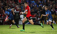 Sonny Bill Williams busts the Bulls defence..Investec Super Rugby - Crusaders v Bulls, 9 April 2011, Alpine Energy Stadium, Timaru, New Zealand..Photo: Rob Jefferies / www.photosport.co.nz