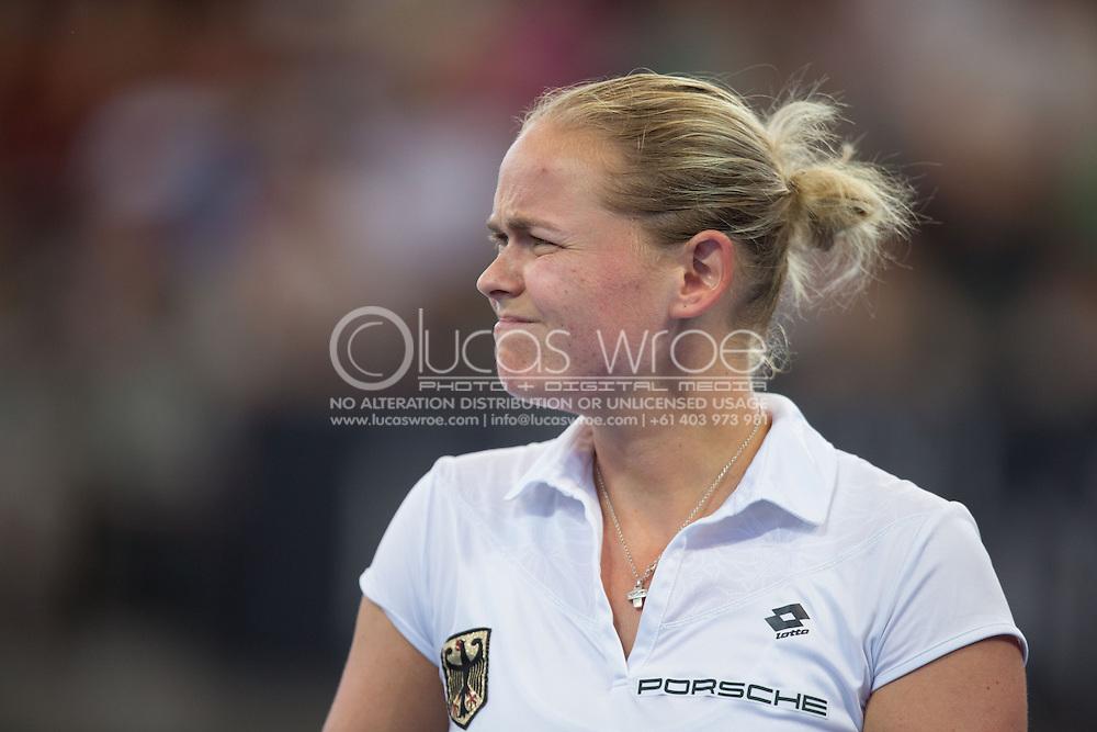 Anna-Lena Groenefeld (GER), April 20, 2014 - TENNIS : Fed Cup, Semi-Final, Australia v Germany. Pat Rafter Arena, Brisbane, Queensland, Australia. Credit: Lucas Wroe