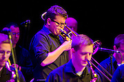 The Fayetteville Jazz Collective performs at the North Arkansas Jazz Society, KUAF and Walton Arts Center Summer Jazz Concert in Fayetteville, Arkansas
