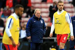 England coach Ray Lewington watches the players warm up - Mandatory by-line: Matt McNulty/JMP - 27/05/2016 - FOOTBALL - Stadium of Light - Sunderland, United Kingdom - England v Australia - International Friendly