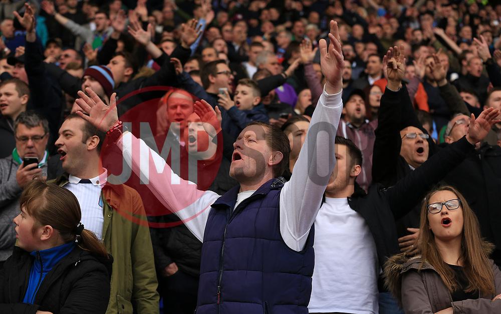 Aston Villa fans sing towards Birmingham City fans prior to kick off - Mandatory by-line: Paul Roberts/JMP - 29/10/2017 - FOOTBALL - St Andrew's Stadium - Birmingham, England - Birmingham City v Aston Villa - Skybet Championship
