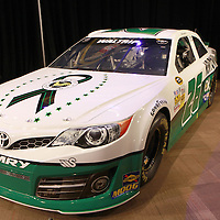 NASCAR's new Gen6 car is shown during the NASCAR Media Day event at Daytona International Speedway on Thursday, February 14, 2013 in Daytona Beach, Florida.  (AP Photo/Alex Menendez)