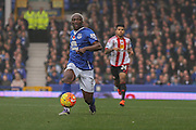 Everton forward Arouna Kone during the Barclays Premier League match between Everton and Sunderland at Goodison Park, Liverpool, England on 1 November 2015. Photo by Simon Davies.
