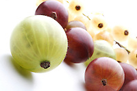 Close up of gooseberry - studio shot