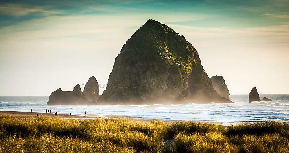 Haystack rock on the Oregon Coast at Cannon Beach