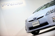Photo shows Toyota Motor Corp.'s third generation Prius hybrid car, which was unveiled at the company's showroom in Tokyo, Japan on 18 May 2009.