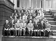 21/09/1957<br /> 09/21/1957<br /> 21 September 1957<br /> Athletics - Ireland V Scotland in College Park, Trinity College, Dublin. Group photo of teams and officials.