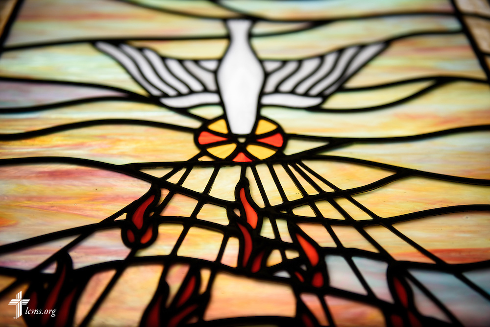 Stained glass representing the Holy Spirit at Mount Olive Lutheran Church, on Thursday, March 3, 2016, in Loveland, Colo. LCMS Communications/Erik M. Lunsford