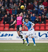 Dundee&rsquo;s Darren O&rsquo;Dea and St Johnstone&rsquo;s Graham Cummins - St Johnstone v Dundee in the Ladbrokes Scottish Premiership at McDiarmid Park, Perth: Picture &copy; David Young<br /> <br />  - &copy; David Young - www.davidyoungphoto.co.uk - email: davidyoungphoto@gmail.com