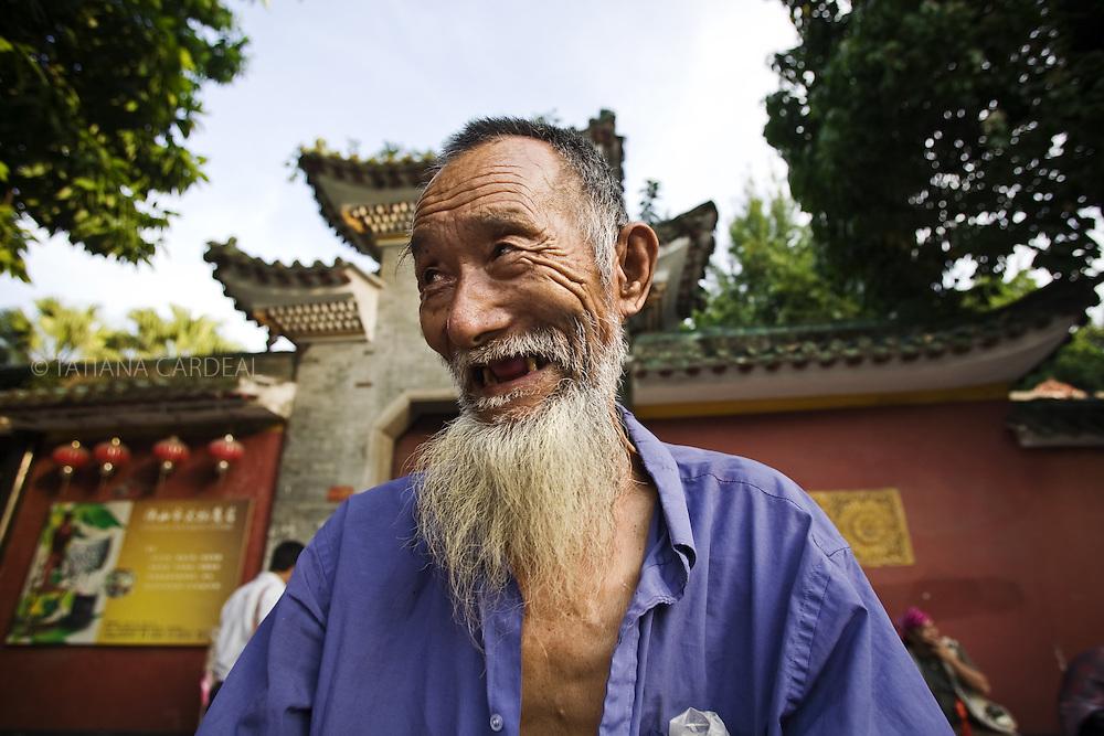 Chinese man at Foshan street.