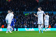 Leeds United defender Luke Ayling (2) and Leeds United defender Ben White (5) during the EFL Sky Bet Championship match between Leeds United and Cardiff City at Elland Road, Leeds, England on 14 December 2019.