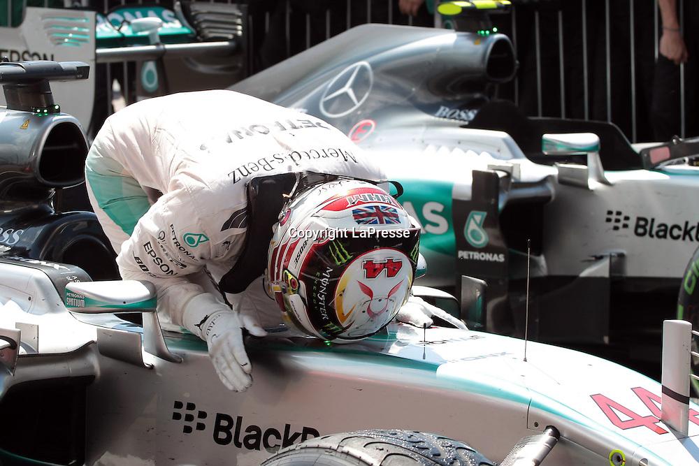 &copy; Photo4 / LaPresse<br /> 05/07/2015 Silverstone, England<br /> Sport <br /> Grand Prix Formula One England 2015<br /> In the pic: race winner Lewis Hamilton (GBR) Mercedes AMG F1 W06