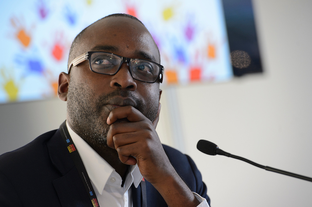 03 June 2015 - Belgium - Brussels - European Development Days - EDD - Climate - The unbearable cost of business as usual - Andrew Makkinga<br /> Presentator &copy; European Union