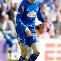 St Johnstone Season 2009-10<br /> Murray Davidson<br /> Picture by Graeme Hart.<br /> Copyright Perthshire Picture Agency<br /> Tel: 01738 623350  Mobile: 07990 594431