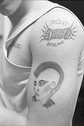Gavin's tattoos, UK, 1980s.