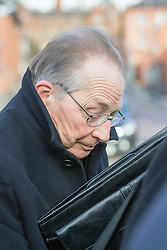 © Licensed to London News Pictures. 09/12/2015. Leeds UK. Retired Roman Catholic priest Roy Lovatt  at Leeds Magistrates Court charged with historic sexual abuse offences at the Thorpe Arch Range children's home in the 1970's & 80's. Melvin Blake, Len Anthony & Marion Beresford have also been charged. All four were arrested as part of Operation Polymer, a probe into physical and sexual abuse at children's homes in and around Leeds in the 1960's 70's & 80's. Photo credit: Andrew McCaren/LNP