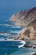 The eastern cliffs of Tomales Point in Point Reyes National Seashore fall directly into the Pacific Ocean