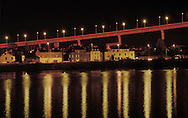 Chevire bridge over the Loire in Nantes, France. 1992