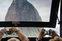 Tourist take the cable car to Sugarloaf Mountain, Rio de Janeiro, Brazil