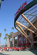 ANAHEIM, CA - AUGUST 24:  Fans cue up in front of the main entrance to the stadium for the Los Angeles Angels of Anaheim game against the Minnesota Twins at Angel Stadium on August 24, 2008 in Anaheim, California. The Angels defeated the Twins 5-3. ©Paul Anthony Spinelli