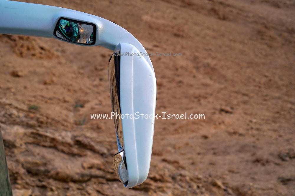 Wing mirror on a touring coach