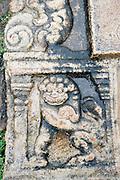 Detail of stone urinal. Anuradhapura is a UNESCO World Heritage Site.